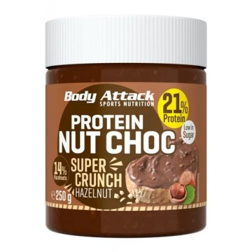 Body Attack Protein Nut Choc Super Crunch (250g)