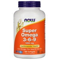 Now Foods Super Omega 3-6-9 1200mg (180 caps)