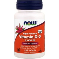 Now Foods Vitamin D-3 2'000 IU (240 Softgels)