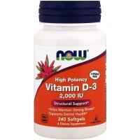 Now Foods Vitamin D-3 2'000 IU (240 Softgels)