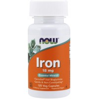Now Foods Iron 18 mg (120 tabs)
