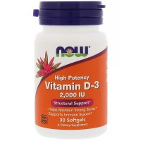 Now Foods Vitamin D-3 2'000 IE (30 Softgelkapseln)