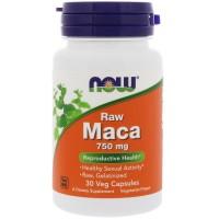 Now Foods Raw Maca 750 mg (30 Kaps)